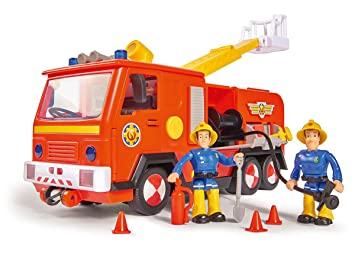 Simba 109251038 Sam Jupiter Feuerwehrauto 2 0 Mit Sam Und Elvis