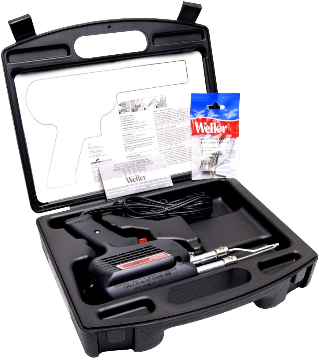 B00002N7S1 Weller D550PK 260-Watt/200W Professional Soldering Gun Kit with Three Tips and Solder in Carrying Case 71hXpEqPN6L