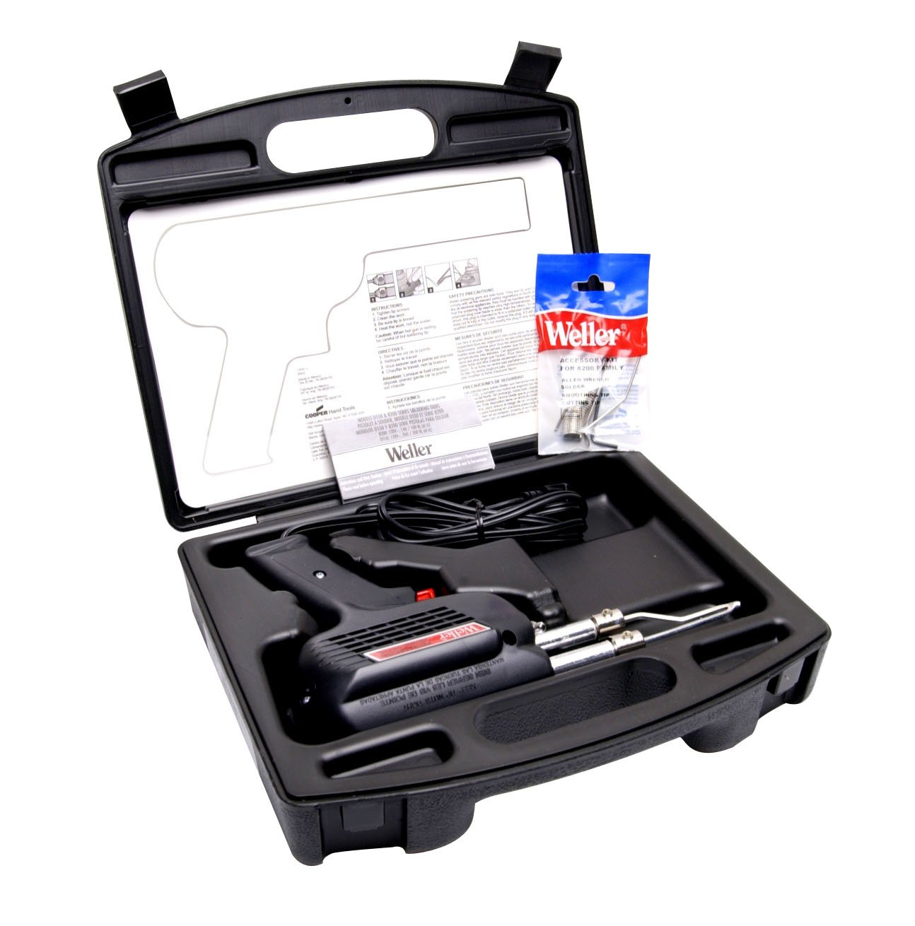 Weller D550PK 260-Watt/200W Professional Soldering Gun Kit with Three Tips and Solder in Carrying Case by Weller