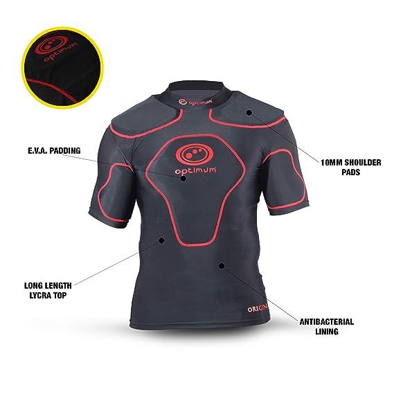 Optimum Origin - Camiseta deportiva con acolchado en hombros ... a78c8a2ad361e