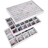 AUTOARK Ice Velvet Jewelry Tray Showcase Display Organizer