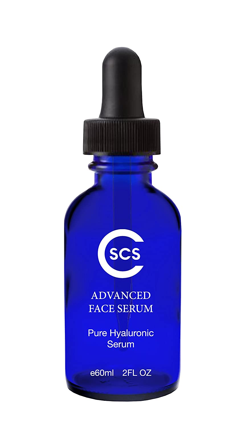 CSCS 100% Pure Hyaluronic Acid Serum - Reduce Fine Lines and Wrinkles - Moisturizing and Hydrating Serum - Non-Greasy, Vegan, Paraben Free, Professional Formula - 2 oz