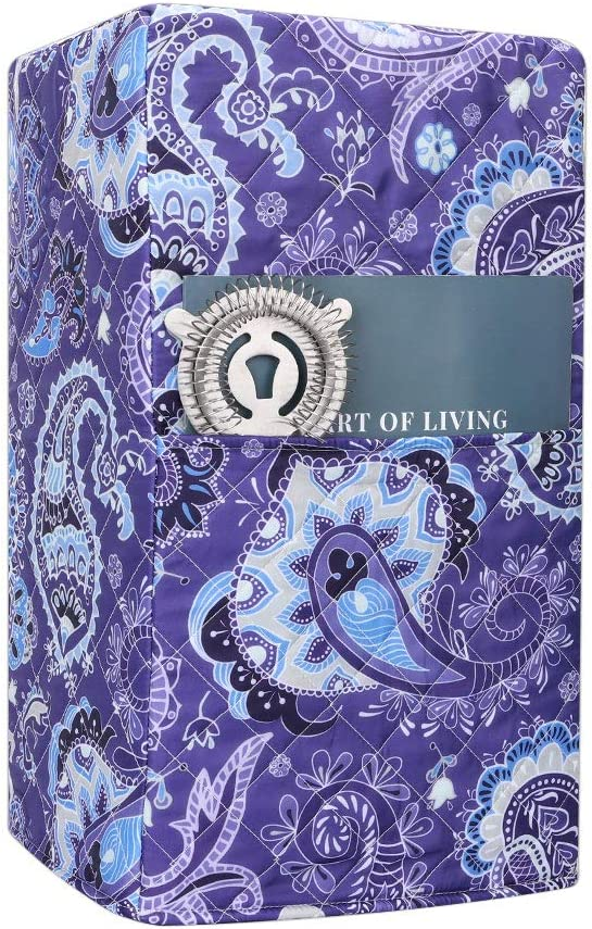 Blender Cover,Dust-proof Organizer Quilted Polyester Cotton Blender Cover,Smart Kitchen Appliance Dust Cover,Juicer Cover Anti Fingerprint Mixer Covers (Purple Paisley)