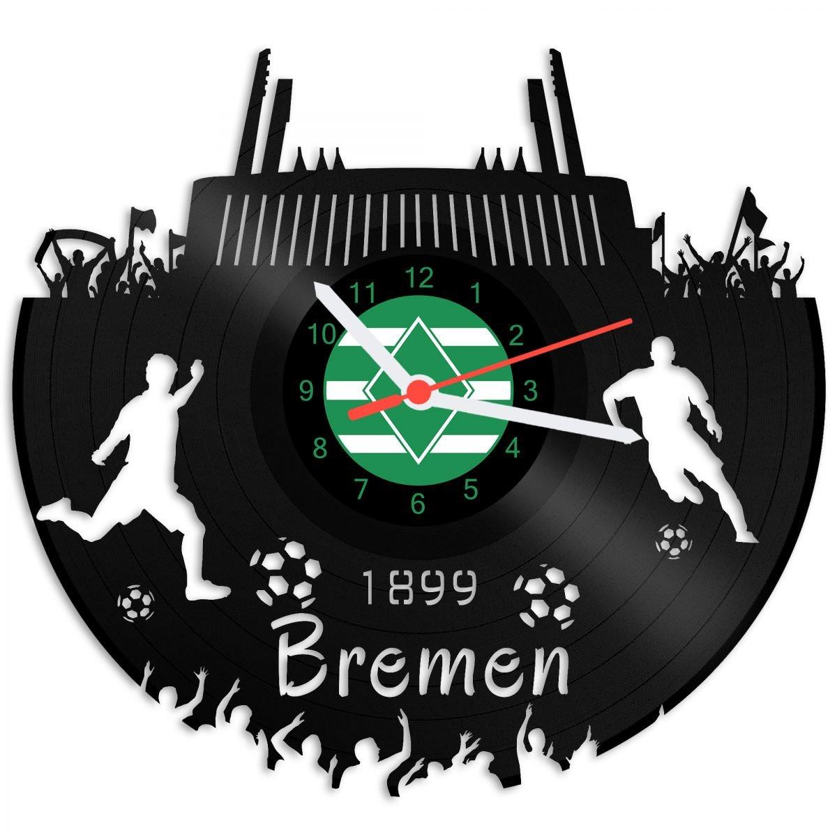 Grabado Línea Tocadiscos Reloj Bremen - 100% del amor - upcycling ...