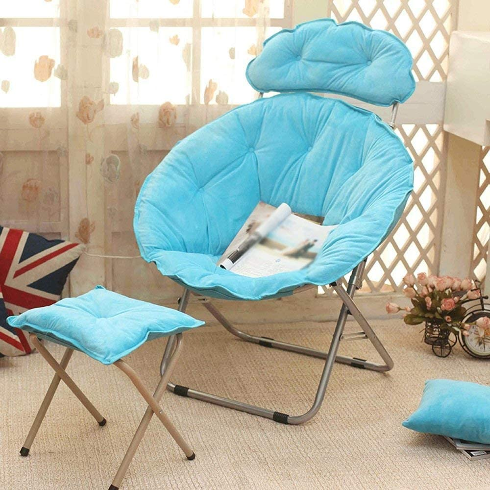 Tammy Mark Washable Lazy Sofa, Lazy Chair, Afternoon Chair, Folding Chair, Backrest Chair, Sun Chair, Moon Chair, Sunset Sofa + (Color : A1) Backrest Chair (Color : B1) B4