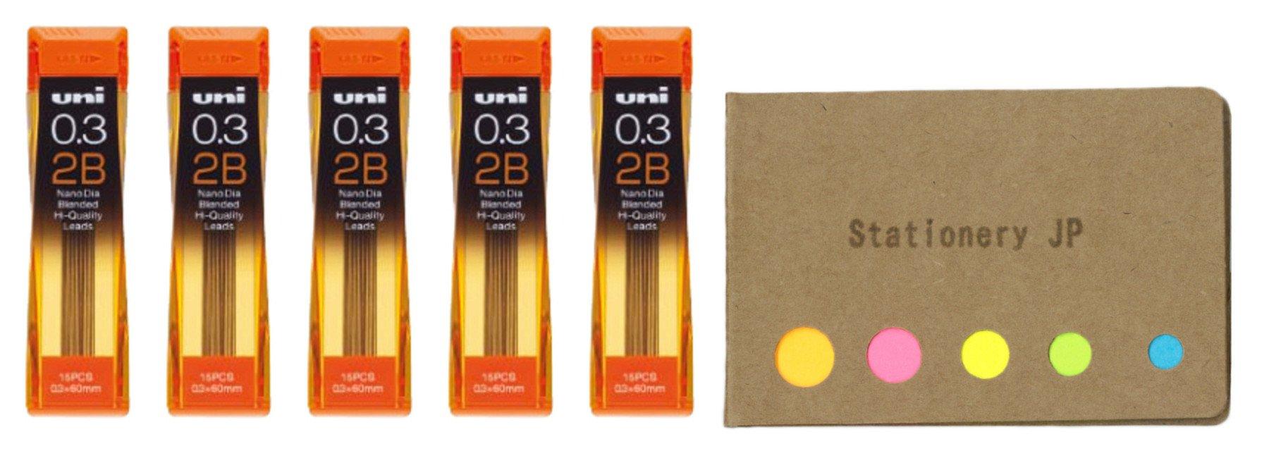 Uni NanoDia 75 Minas (5 Tubos) 0.3mm 2B    (8KNL)