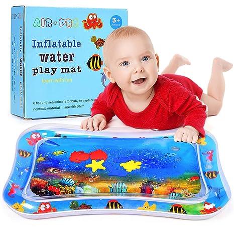 Cojín de Agua Inflable para bebé,PVC a Prueba de Fugas para Bebés para Niños Pequeños Centro de Actividades para los Recién Nacidos