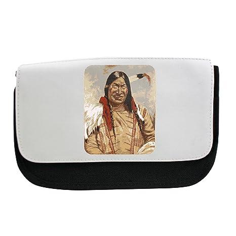 Nativo americano hombre estuche, maquillaje bolsa, Multibag ...