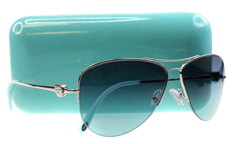5775e339fd2 Amazon.com  Sunglasses Tiffany TF 3021 60029S SILVER  Clothing
