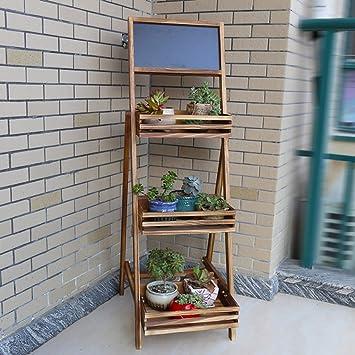 Estante de Pizarra Pequeña Estantes de Bambú Plegables Estante de Escalera Vertical Exterior Interior, BOSS LV: Amazon.es: Bricolaje y herramientas