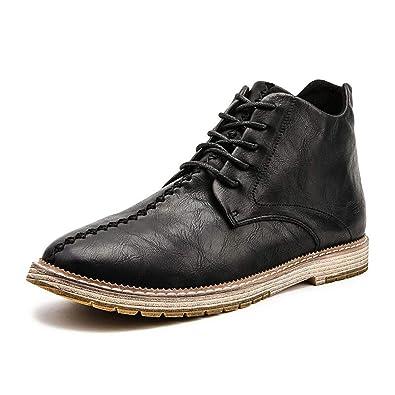 b1362c41a516 Men Boots Vintage Style Casual Men Shoes High-Cut Lace-Up Men Martin Boots