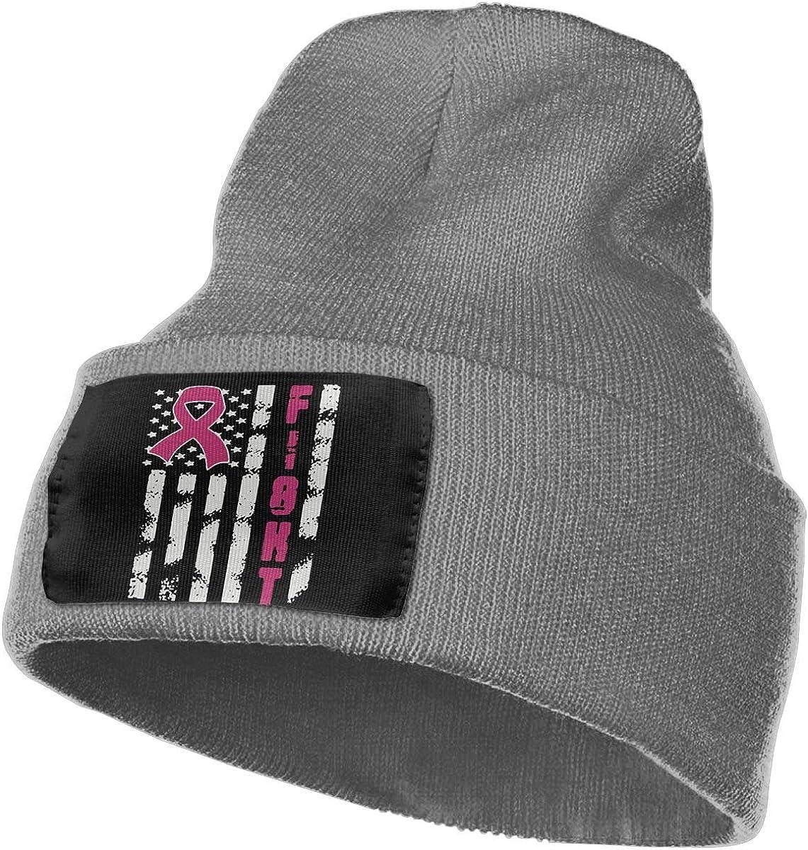 Breast Cancer Flag Fashion Ski Cap WHOO93@Y Unisex 100/% Acrylic Knitted Hat Cap