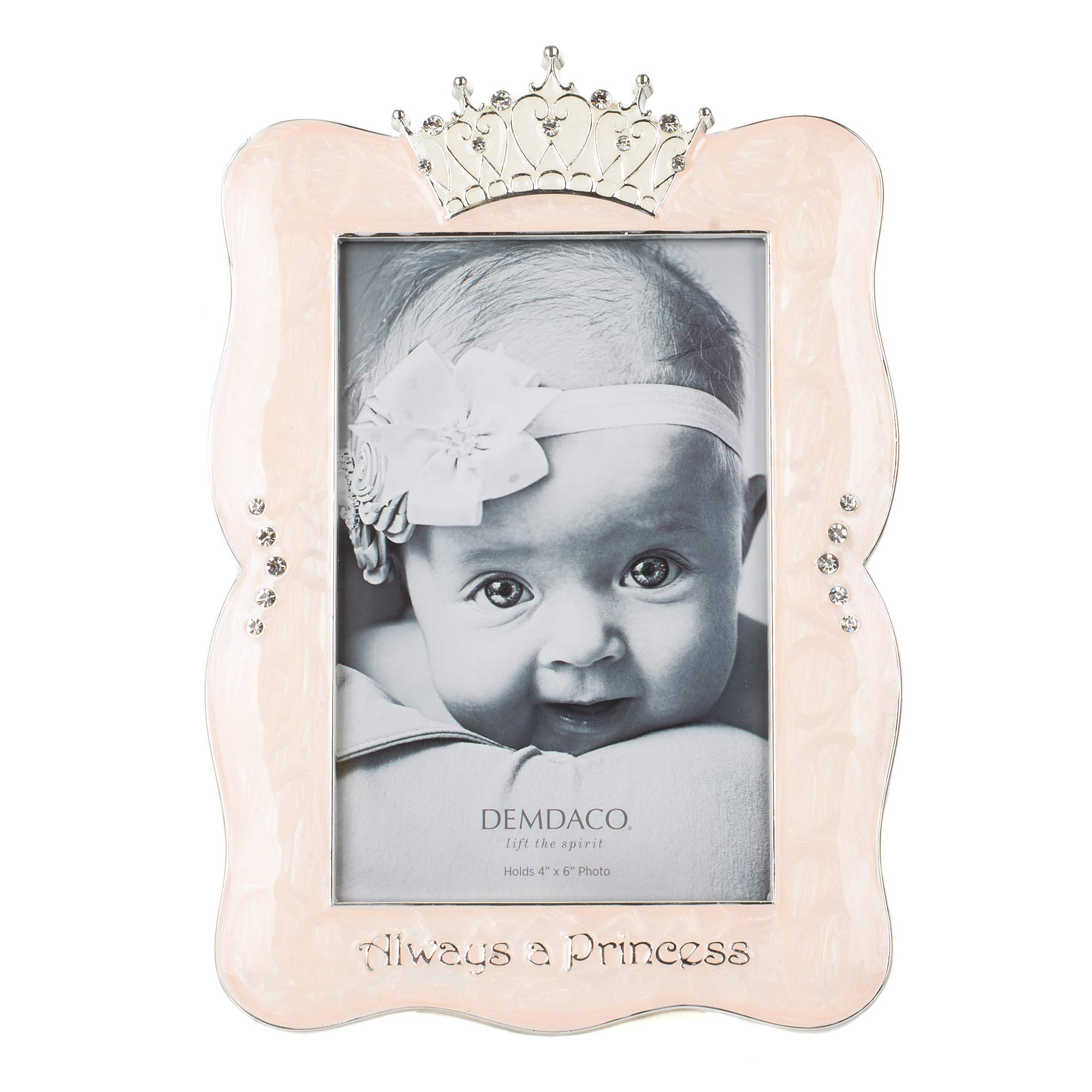 Always a Princess 6 x 8 Enamel with Metal and Rhinestone Accents Picture Frame by DEMDACO