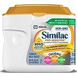 Similac 雅培 Pro-Sensitive Non-GMO 婴儿配方奶粉,含铁,含2'-FL HMO,免疫支持,22.5盎司(638克)(单桶)