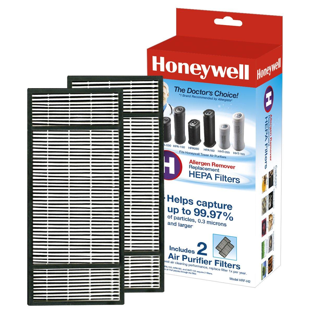 Honeywell True HEPA Air Purifier Replacement Filter 2 Pack HRF-H2 / Filter (H)