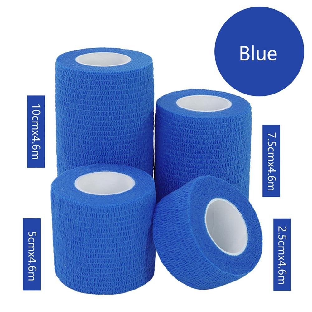 JaneDream Sports Waterproof Breathable Safety Adhesive Flexible Elastic Bandage First Aid Medical Health Care Gauze Protect Finger Wrist Ankle Knees Tape S 2.5cm Blue