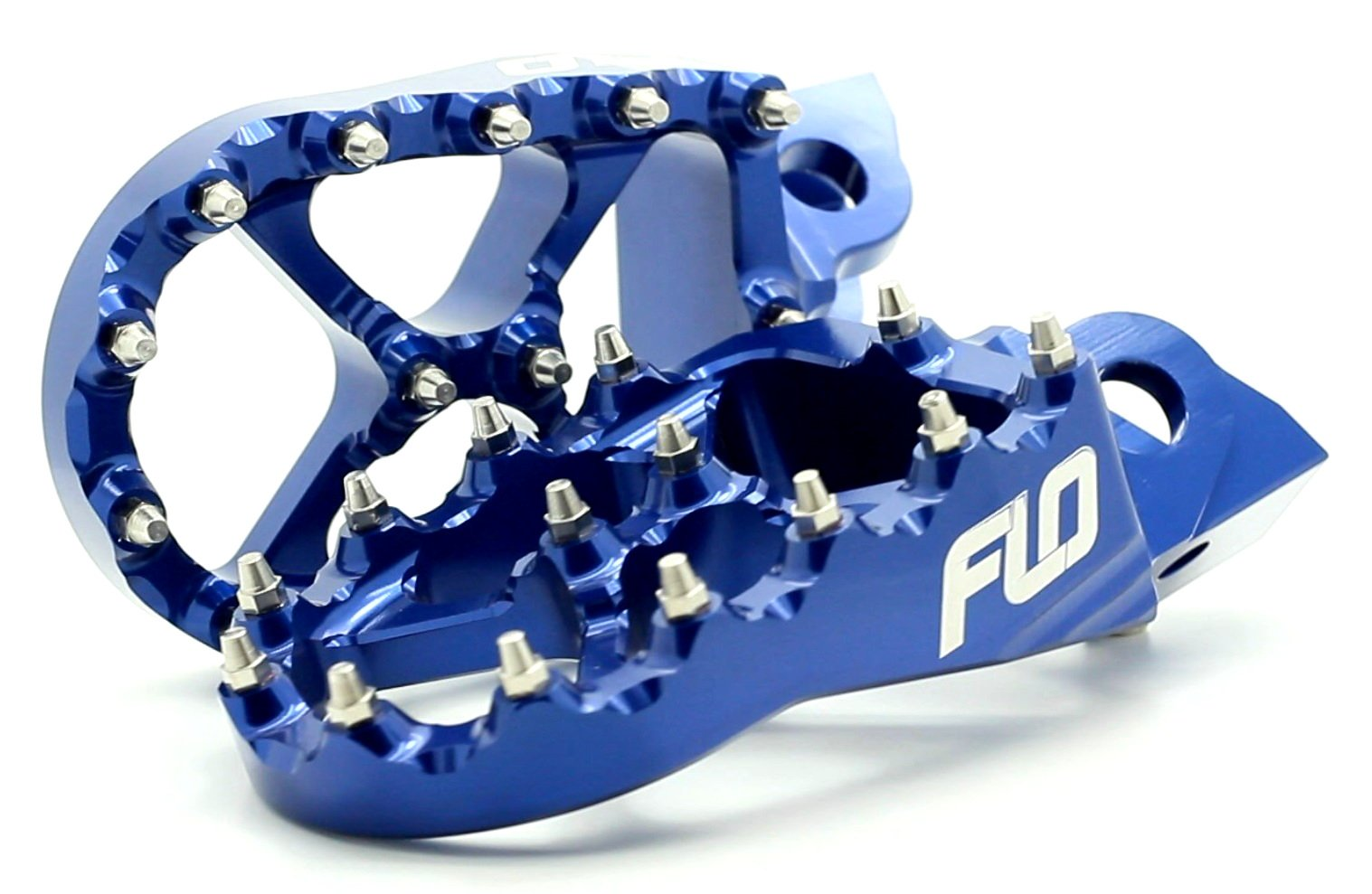 Flo Motorsports CLOSEOUT 2.0 Blue Honda Crf150r, Cr150/250,crf250/450r/x Foot Pegs Fpeg-791blu