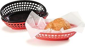 Carlisle 033303 Restaurant Quality Oval Basket Display, Polyethylene, 9-1/4