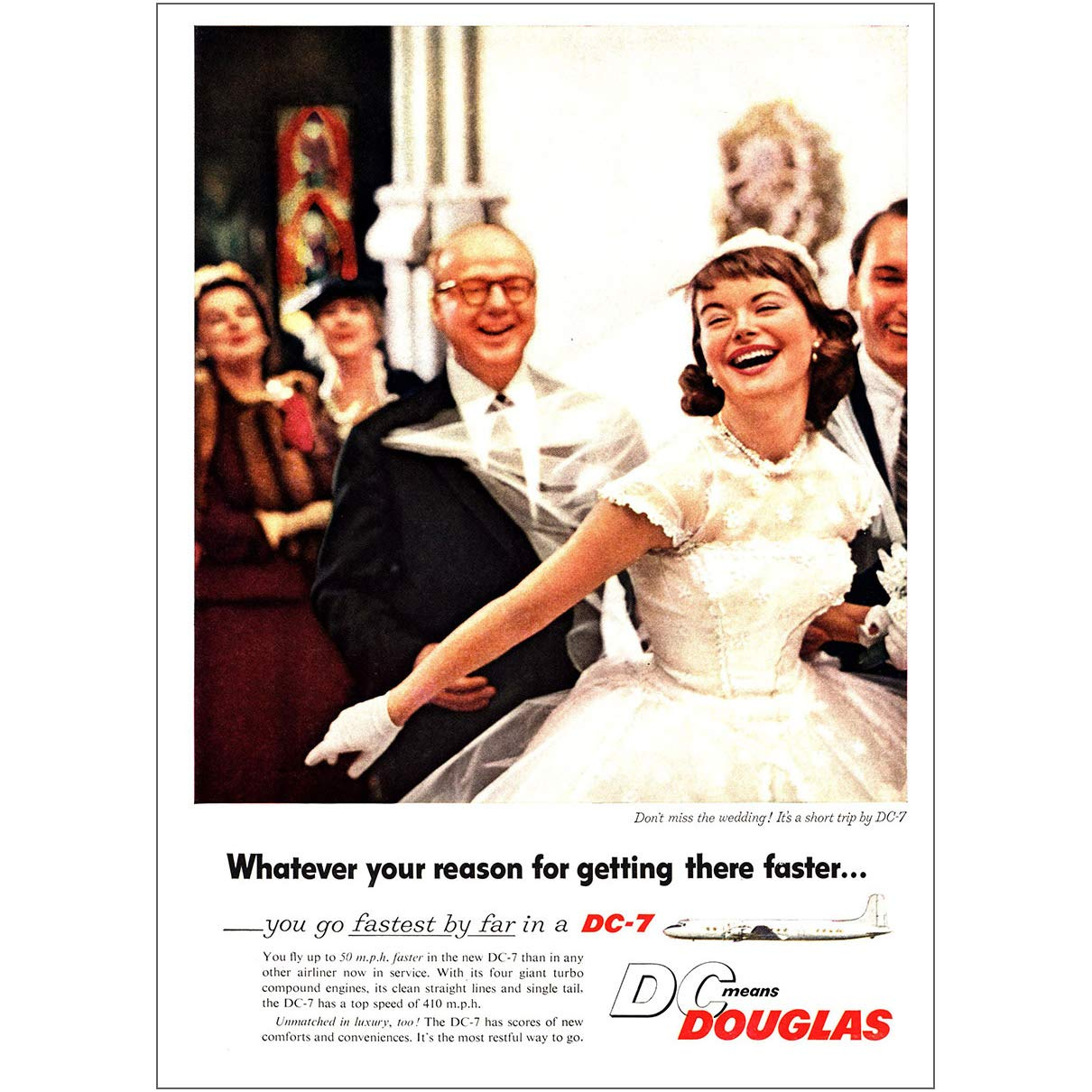 Amazon com: RelicPaper 1955 Douglas DC7: Don't Miss The