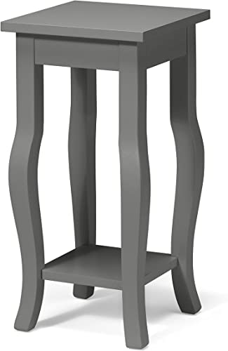 Kate and Laurel Lillian Classic Wood Pedestal End Table