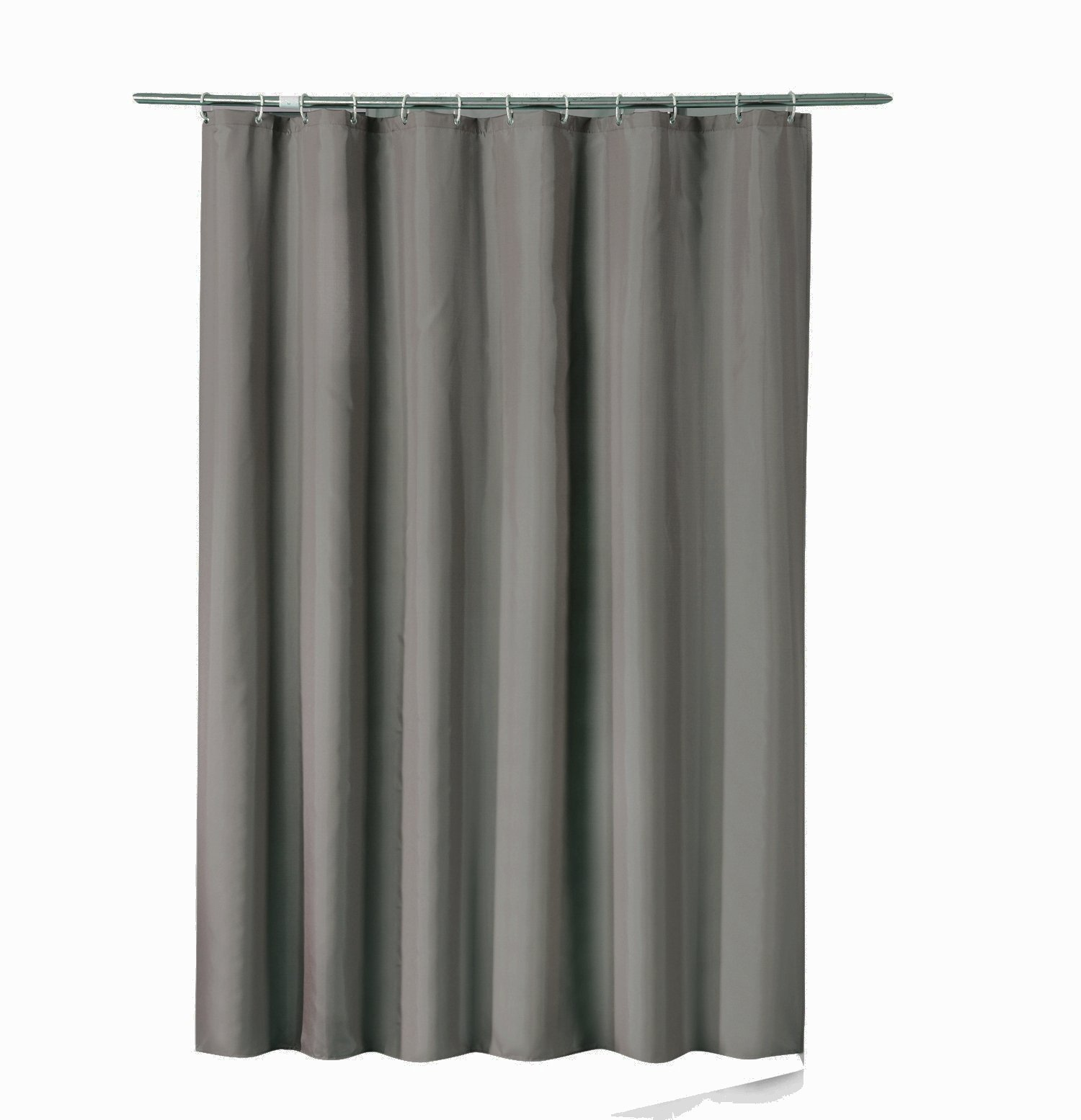 Sfoothome 36 Inch Wide x 72Inch Long Small Size Hotel Fabric Shower Curtain Waterproof and Mildew Free Bath Curtains Heavy Weight, Deep Gray