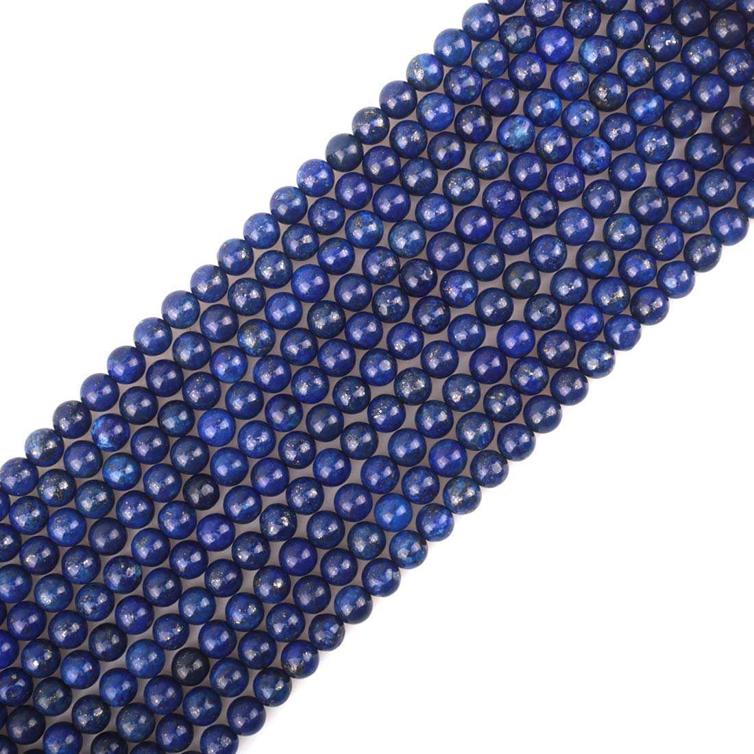 ICAI Beads 8mm Natural Volcanic Gemstone Round Loose Stone Beads for Jewelry Making DIY Crafts Design 1 Strand 15 APPR.43-45pcs