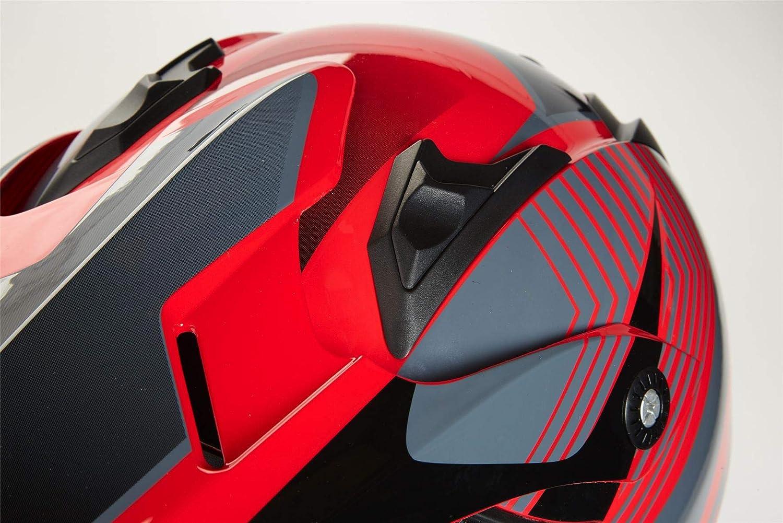 Qtech Cross Enduro Quad Casque de Moto avec Lunettes MX VTT ECE22-05