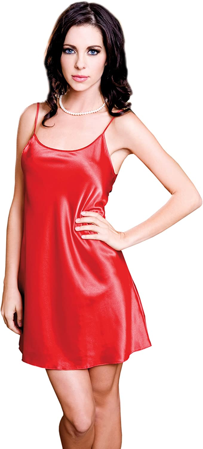iCollection Women's Satin Chemise: Clothing