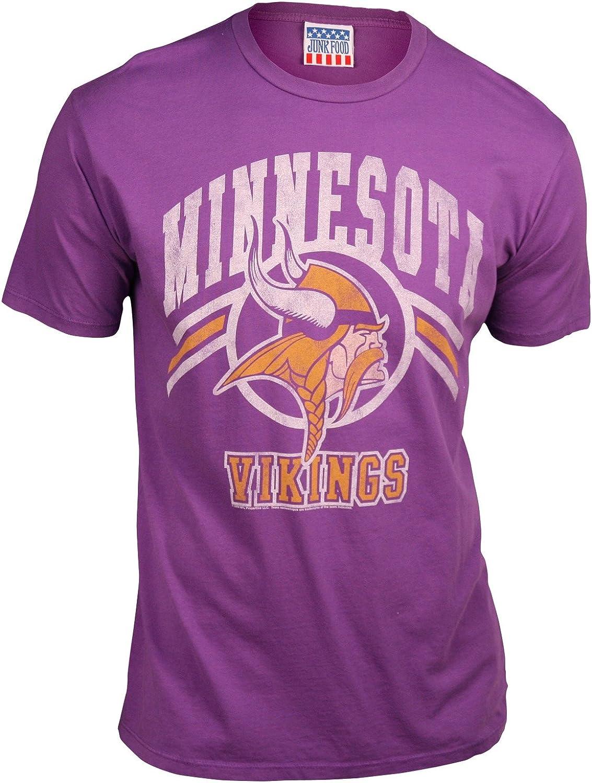 Junk Food Minnesota Vikings Men's Retro Vintage T-Shirt (Dark Grape)
