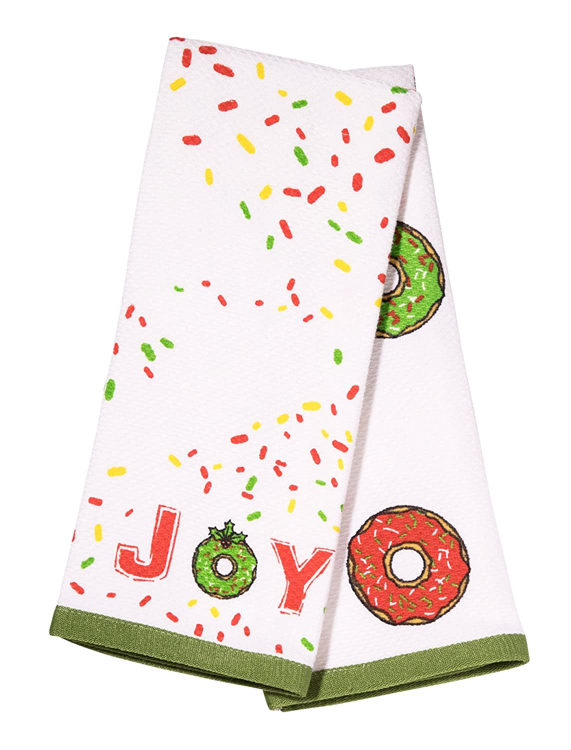 Balmont Collection Holiday Donuts Kitchen Towels 16 x 26 Multi Set of 2