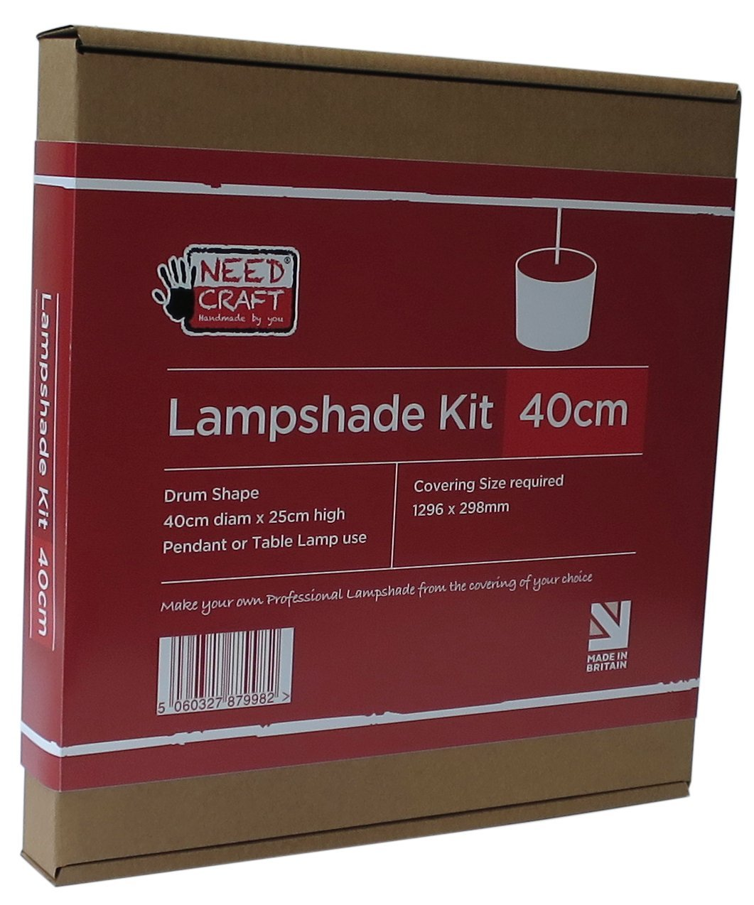 40cm Lampshade Making Kit for Pendants Or Table Lamps needcraft.co.uk