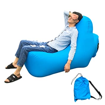 Amazoncom Inflatable Outdoor Couch Chair Lounger Portable Air