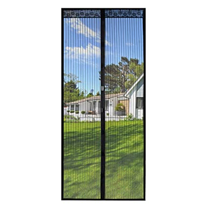 Magnetic Screen Door 39x82 Inches,Screen Doors with Magnets Heavy Duty Mesh  Curtain Full Frame Hook&Loop,For Front Door Apartments and More,Hands ...