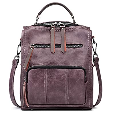 Amazon.com  SiMYEER Women s Leather Fashion Backpack Purse Rucksack  Waterproof Shoulder Bag School Casual Daypack for Girls  Shoes 7333137c5fdc9
