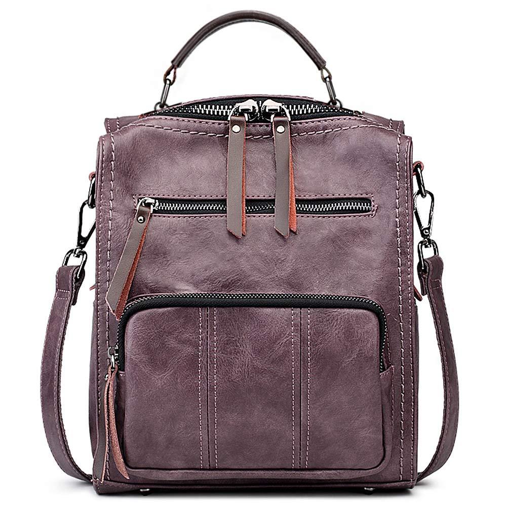 SiMYEER Women's Leather Fashion Backpack Purse Rucksack Waterproof Shoulder Bag School Casual Daypack for Girls