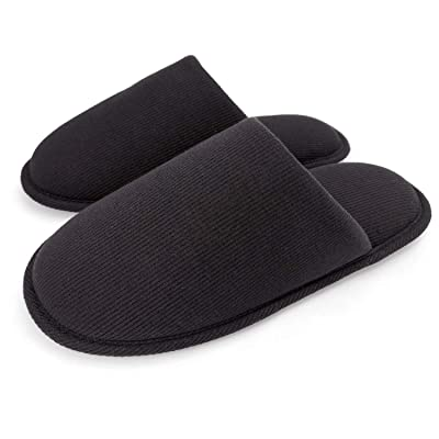 ofoot Men's Organic Cotton Cozy Indoor Slippers, Memory Foam House Flat, Washable Slip on Home Shoes | Slippers