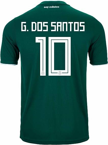 Dos Santos # 10 Mexico Home Soccer Jersey New Green Jersey G