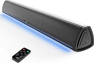 Philex Electronic - Barra de Sonido TV con Bluetooth, Altavoces Barras para Television, Videojuegos, Música, Soundbar Home Cinema, Oficina y PC con Control Remoto