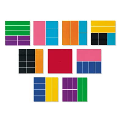 Learning Resources Deluxe Rainbow Fraction Squares: Office Products