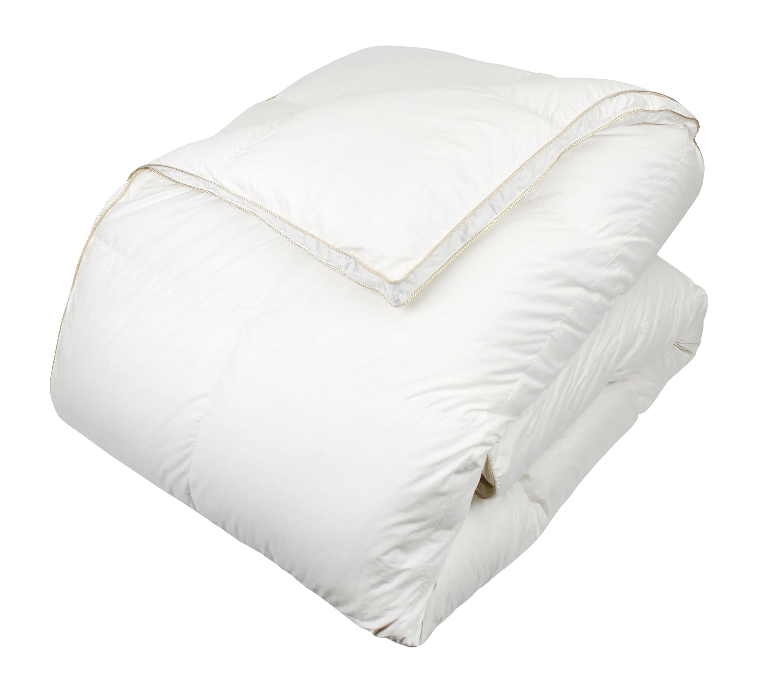 Century Home C352-174 Glucksberg European White Goose Down Comforter, King