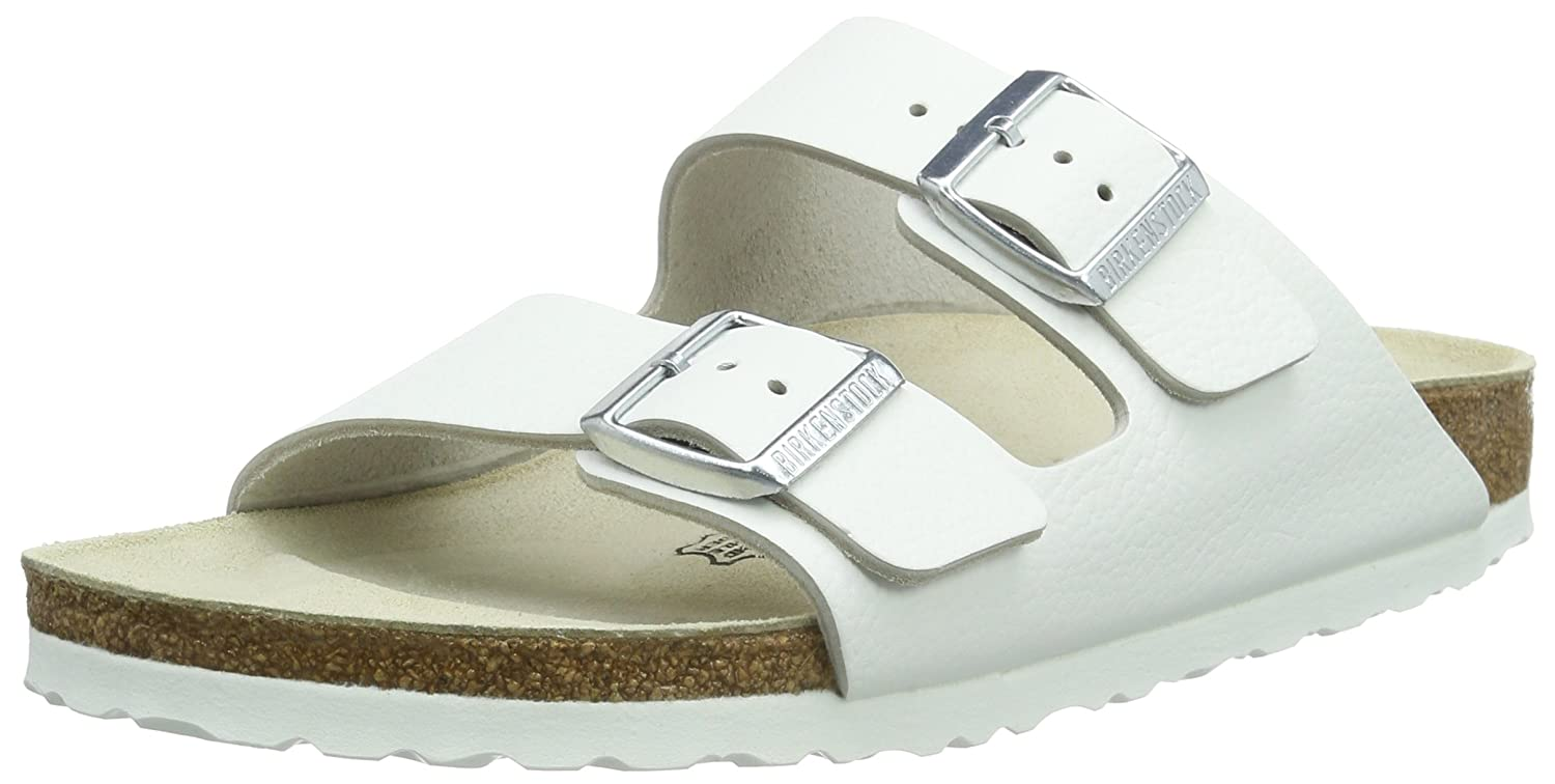 Birkenstock Arizona, Zapatos con Hebilla Unisex Adulto 50 EU (Normal)|Blanco (White)