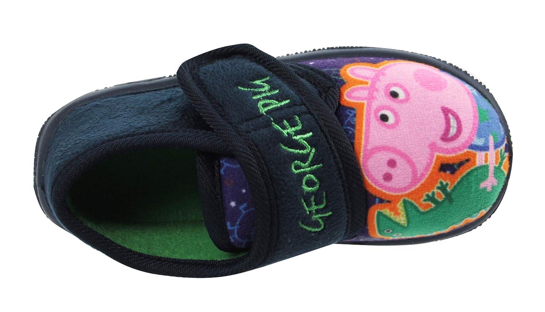 Boys Peppa Pig /& Dinosaur Slipper Shoes Soft Novelty UK Sizes 5-10 Infant