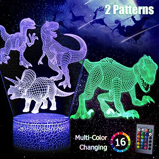 Colour Changing Dinosaur Mood Night Light