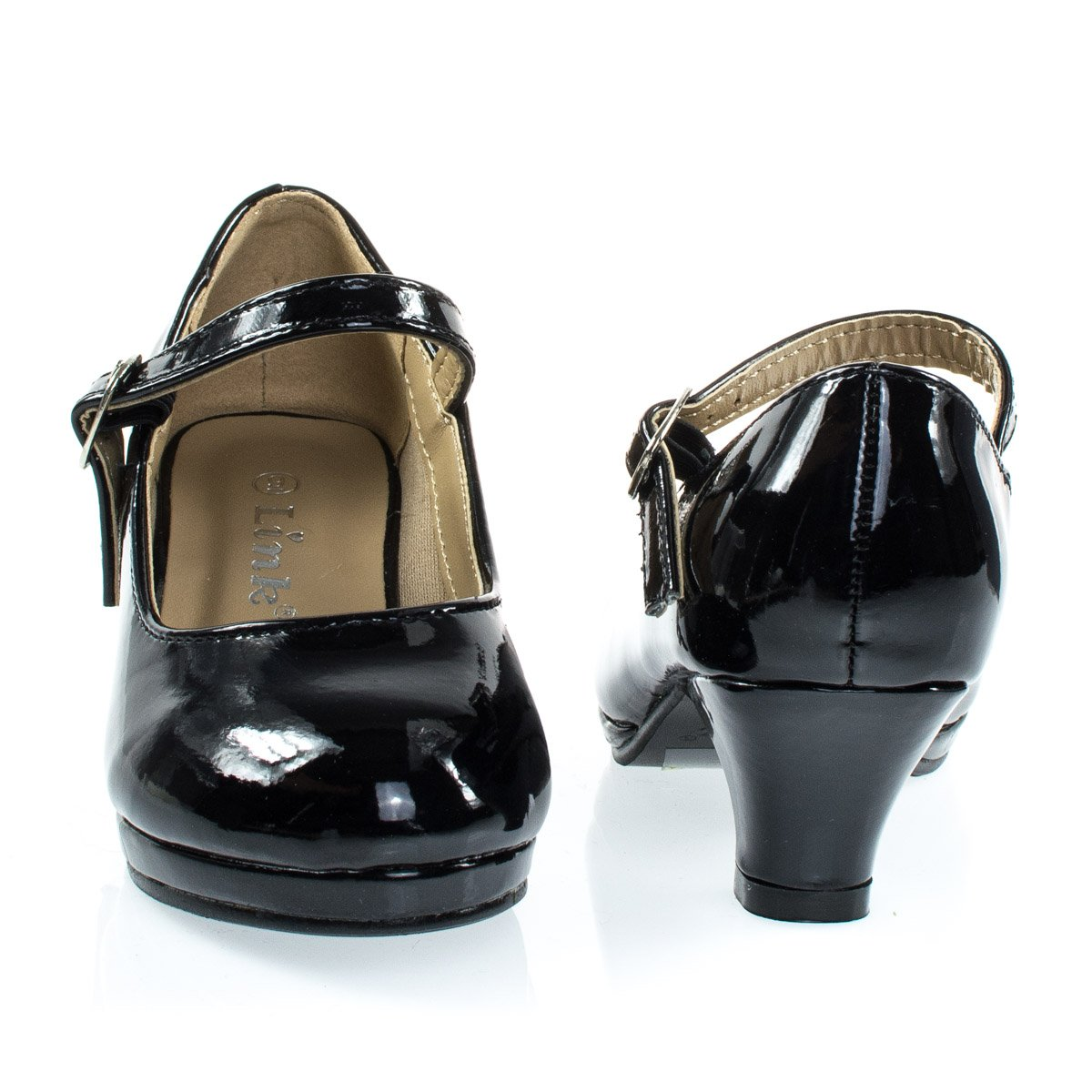Forever Link Children Girl Rhinestone Round Toe Mary-Jane Dress Pump w Platform by Forever Link (Image #4)