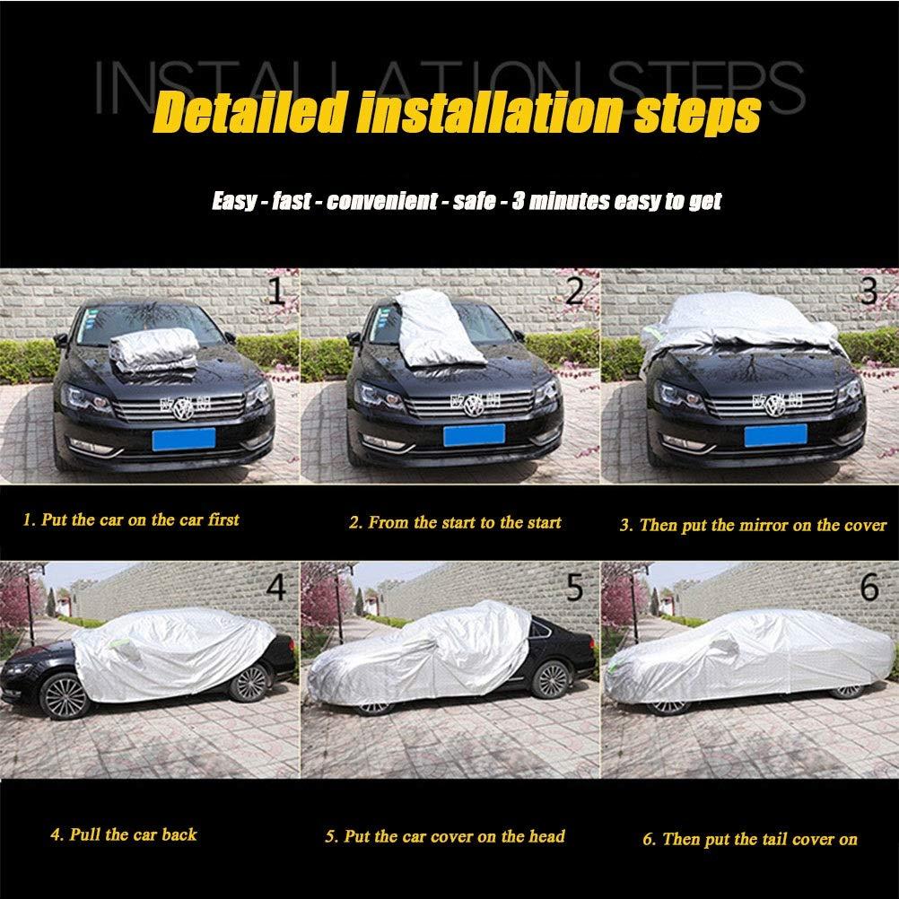 sol//nieve//polvo//rayado color : Negro-Grandland X Para Opel versi/ón personalizada en negro cubierta de autom/óvil al aire libre tela Oxford ropa de autom/óvil universal de cuatro estaciones