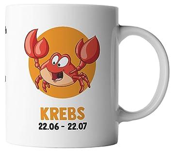 Amazon.de: ghostee Tasse - Horoskop Sternzeichen Krebs 22.06 ...