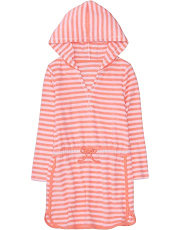 c9444f0333 Gymboree Little Girls' Hooded Striped Cover-up