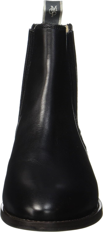 Marc O'Polo Damen Flat Heel 70714155001113 Chelsea Boots Schwarz Black