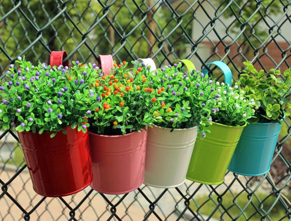 Amazoncom Flower Pot Hanging Balcony Garden Metal