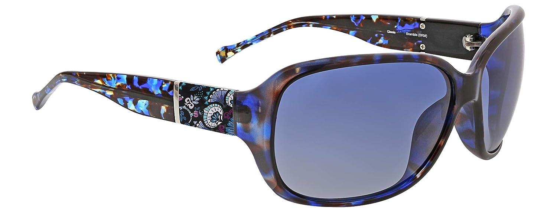 cc5925a7c2b Amazon.com  Vera Bradley Women s Ginnie Polarized Wrap Sunglasses ...